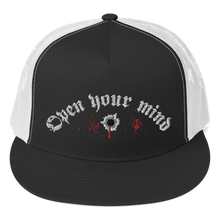 Load image into Gallery viewer, Embroidered Trucker Cap Embroidered Trucker Cap Aighard Black/ White 1 6489122 Embroidered Trucker Cap