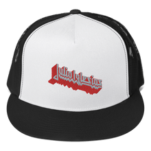 Load image into Gallery viewer, Embroidered Trucker Cap Embroidered Trucker Cap Aighard Black/ White/ Black 4 7015068 Embroidered Trucker Cap