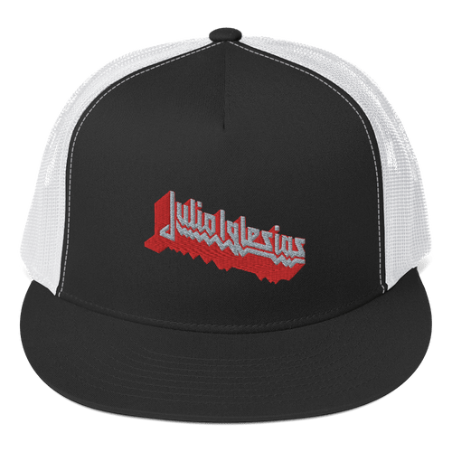Embroidered Trucker Cap Embroidered Trucker Cap Aighard Black/ White 1 7175010 Embroidered Trucker Cap