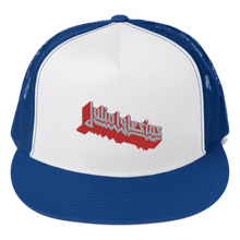 Load image into Gallery viewer, Embroidered Trucker Cap Embroidered Trucker Cap Aighard Royal/ White/ Royal 7 1521288 Embroidered Trucker Cap