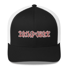 Load image into Gallery viewer, Embroidered Trucker Cap Embroidered Trucker Cap Hat Aighard Black/ White 1 6026681_8748 Embroidered Trucker Cap