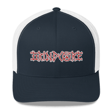 Load image into Gallery viewer, Embroidered Trucker Cap Embroidered Trucker Cap Hat Aighard Navy/ White 3 6026681_8755 Embroidered Trucker Cap