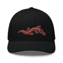 Load image into Gallery viewer, Embroidered Trucker Cap Embroidered Trucker Cap Hat Aighard Black 1 6534881_8747 Embroidered Trucker Cap
