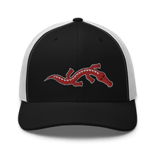 Load image into Gallery viewer, Embroidered Trucker Cap Embroidered Trucker Cap Hat Aighard Black/ White 4 6534881_8748 Embroidered Trucker Cap