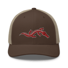 Load image into Gallery viewer, Embroidered Trucker Cap Embroidered Trucker Cap Hat Aighard Brown/ Khaki 13 6534881_8749 Embroidered Trucker Cap