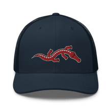 Load image into Gallery viewer, Embroidered Trucker Cap Embroidered Trucker Cap Hat Aighard Navy 7 6534881_8751 Embroidered Trucker Cap