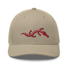 Load image into Gallery viewer, Embroidered Trucker Cap Embroidered Trucker Cap Hat Aighard Khaki 16 6534881_8752 Embroidered Trucker Cap