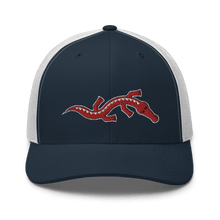 Load image into Gallery viewer, Embroidered Trucker Cap Embroidered Trucker Cap Hat Aighard Navy/ White 10 6534881_8755 Embroidered Trucker Cap