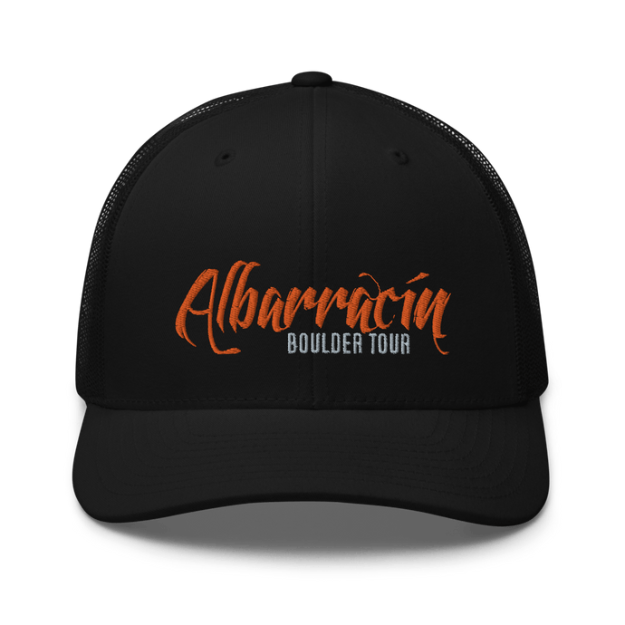 Embroidered Trucker Cap Embroidered Trucker Cap Hat Aighard Black 1 6754383_8747 Embroidered Trucker Cap