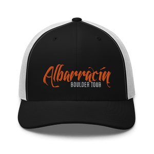 Embroidered Trucker Cap Embroidered Trucker Cap Hat Aighard Black/ White 4 6754383_8748 Embroidered Trucker Cap