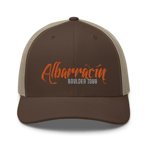 Embroidered Trucker Cap Embroidered Trucker Cap Hat Aighard Brown/ Khaki 13 6754383_8749 Embroidered Trucker Cap