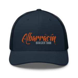 Embroidered Trucker Cap Embroidered Trucker Cap Hat Aighard Navy 7 6754383_8751 Embroidered Trucker Cap
