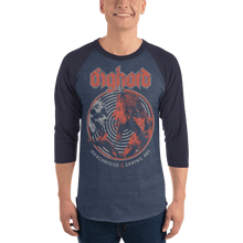 Load image into Gallery viewer, Unisex 3/4 Sleeve Raglan Shirt Unisex 3/4 Sleeve Raglan Shirt Aighard Heather Denim/Navy XS 3 6301680 Unisex 3/4 Sleeve Raglan Shirt