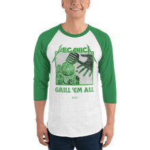 Load image into Gallery viewer, Unisex 3/4 Sleeve Raglan Shirt Unisex 3/4 Sleeve Raglan Shirt Aighard White/Kelly XS 5 3854816 Unisex 3/4 Sleeve Raglan Shirt