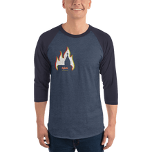 Load image into Gallery viewer, Unisex 3/4 Sleeve Raglan Shirt Unisex 3/4 Sleeve Raglan Shirt Aighard Heather Denim/Navy XS 2 2372571 Unisex 3/4 Sleeve Raglan Shirt