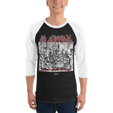 Load image into Gallery viewer, Unisex 3/4 Sleeve Raglan Shirt Unisex 3/4 Sleeve Raglan Shirt Aighard Black/White XS 1 9987544 Unisex 3/4 Sleeve Raglan Shirt