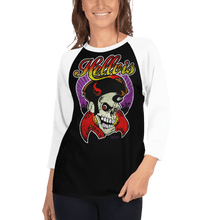 Load image into Gallery viewer, Unisex 3/4 Sleeve Raglan Shirt Unisex 3/4 Sleeve Raglan Shirt Aighard Black/White XS 2 9249795 Unisex 3/4 Sleeve Raglan Shirt