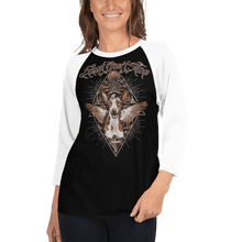 Load image into Gallery viewer, Unisex 3/4 Sleeve Raglan Shirt Unisex 3/4 Sleeve Raglan Shirt Aighard Black/White XS 2 4363374 Unisex 3/4 Sleeve Raglan Shirt