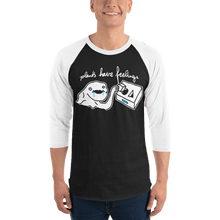 Load image into Gallery viewer, Unisex 3/4 Sleeve Raglan Shirt Unisex 3/4 Sleeve Raglan Shirt Aighard Black/White XS 1 9559317 Unisex 3/4 Sleeve Raglan Shirt
