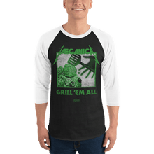 Load image into Gallery viewer, Unisex 3/4 Sleeve Raglan Shirt Unisex 3/4 Sleeve Raglan Shirt Aighard Black/White XS 1 4795919 Unisex 3/4 Sleeve Raglan Shirt
