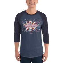 Load image into Gallery viewer, Unisex 3/4 Sleeve Raglan Shirt Unisex 3/4 Sleeve Raglan Shirt Aighard Heather Denim/Navy XS 3 8344690 Unisex 3/4 Sleeve Raglan Shirt