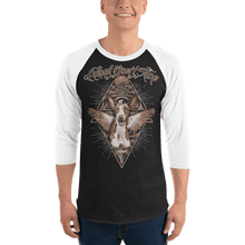 Load image into Gallery viewer, Unisex 3/4 Sleeve Raglan Shirt Unisex 3/4 Sleeve Raglan Shirt Aighard Black/White XS 1 4363374 Unisex 3/4 Sleeve Raglan Shirt