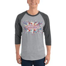 Load image into Gallery viewer, Unisex 3/4 Sleeve Raglan Shirt Unisex 3/4 Sleeve Raglan Shirt Aighard Heather Grey/Heather Charcoal XS 4 6699014 Unisex 3/4 Sleeve Raglan Shirt