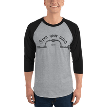Load image into Gallery viewer, Unisex 3/4 Sleeve Raglan Shirt Unisex 3/4 Sleeve Raglan Shirt Aighard Heather Grey/Black XL 7 6807096 Unisex 3/4 Sleeve Raglan Shirt