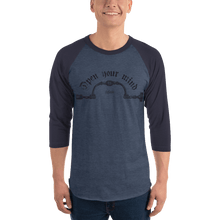 Load image into Gallery viewer, Unisex 3/4 Sleeve Raglan Shirt Unisex 3/4 Sleeve Raglan Shirt Aighard Heather Denim/Navy XS 6 5747945 Unisex 3/4 Sleeve Raglan Shirt