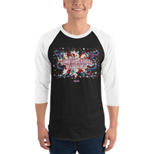 Load image into Gallery viewer, Unisex 3/4 Sleeve Raglan Shirt Unisex 3/4 Sleeve Raglan Shirt Aighard Black/White XS 1 5508282 Unisex 3/4 Sleeve Raglan Shirt