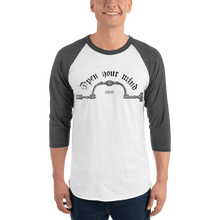 Load image into Gallery viewer, Unisex 3/4 Sleeve Raglan Shirt Unisex 3/4 Sleeve Raglan Shirt Aighard White/Heather Charcoal XS 3 5312717 Unisex 3/4 Sleeve Raglan Shirt