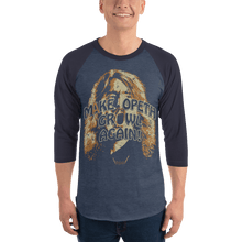 Load image into Gallery viewer, Unisex 3/4 Sleeve Raglan Shirt Unisex 3/4 Sleeve Raglan Shirt Aighard Heather Denim/Navy XS 3 3312021 Unisex 3/4 Sleeve Raglan Shirt