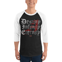 Load image into Gallery viewer, Unisex 3/4 Sleeve Raglan Shirt Unisex 3/4 Sleeve Raglan Shirt Aighard Black/White XS 1 8417911 Unisex 3/4 Sleeve Raglan Shirt