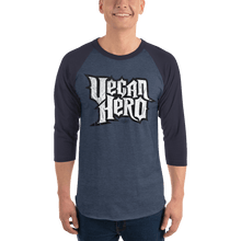 Load image into Gallery viewer, Unisex 3/4 Sleeve Raglan Shirt Unisex 3/4 Sleeve Raglan Shirt Aighard Heather Denim/Navy XS 4 6411671 Unisex 3/4 Sleeve Raglan Shirt