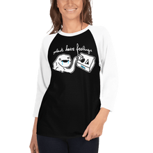 Load image into Gallery viewer, Unisex 3/4 Sleeve Raglan Shirt Unisex 3/4 Sleeve Raglan Shirt Aighard Black/White XS 2 9559317 Unisex 3/4 Sleeve Raglan Shirt