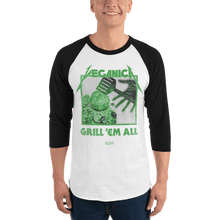 Load image into Gallery viewer, Unisex 3/4 Sleeve Raglan Shirt Unisex 3/4 Sleeve Raglan Shirt Aighard White/Black XS 3 2560643 Unisex 3/4 Sleeve Raglan Shirt