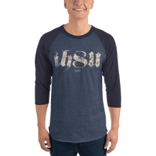 Load image into Gallery viewer, Unisex 3/4 Sleeve Raglan Shirt Unisex 3/4 Sleeve Raglan Shirt Aighard Heather Denim/Navy XS 3 5840482 Unisex 3/4 Sleeve Raglan Shirt