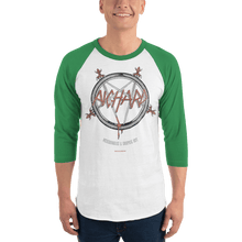 Load image into Gallery viewer, Unisex 3/4 Sleeve Raglan Shirt Unisex 3/4 Sleeve Raglan Shirt Aighard White/Kelly XS 5 6837178 Unisex 3/4 Sleeve Raglan Shirt
