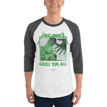 Load image into Gallery viewer, Unisex 3/4 Sleeve Raglan Shirt Unisex 3/4 Sleeve Raglan Shirt Aighard White/Heather Charcoal XS 4 2394397 Unisex 3/4 Sleeve Raglan Shirt