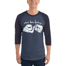 Load image into Gallery viewer, Unisex 3/4 Sleeve Raglan Shirt Unisex 3/4 Sleeve Raglan Shirt Aighard Heather Denim/Navy XS 3 9142496 Unisex 3/4 Sleeve Raglan Shirt