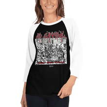 Load image into Gallery viewer, Unisex 3/4 Sleeve Raglan Shirt Unisex 3/4 Sleeve Raglan Shirt Aighard Black/White XS 2 9987544 Unisex 3/4 Sleeve Raglan Shirt