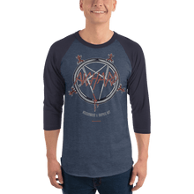 Load image into Gallery viewer, Unisex 3/4 Sleeve Raglan Shirt Unisex 3/4 Sleeve Raglan Shirt Aighard Heather Denim/Navy XS 7 8286697 Unisex 3/4 Sleeve Raglan Shirt