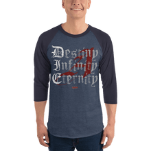 Load image into Gallery viewer, Unisex 3/4 Sleeve Raglan Shirt Unisex 3/4 Sleeve Raglan Shirt Aighard Heather Denim/Navy XS 3 6063102 Unisex 3/4 Sleeve Raglan Shirt