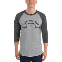 Load image into Gallery viewer, Unisex 3/4 Sleeve Raglan Shirt Unisex 3/4 Sleeve Raglan Shirt Aighard Heather Grey/Heather Charcoal XS 8 8747866 Unisex 3/4 Sleeve Raglan Shirt