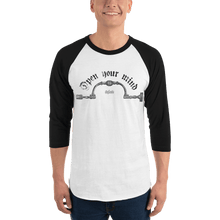 Load image into Gallery viewer, Unisex 3/4 Sleeve Raglan Shirt Unisex 3/4 Sleeve Raglan Shirt Aighard White/Black XS 1 2510291 Unisex 3/4 Sleeve Raglan Shirt