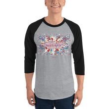 Load image into Gallery viewer, Unisex 3/4 Sleeve Raglan Shirt Unisex 3/4 Sleeve Raglan Shirt Aighard Heather Grey/Black XS 5 1706941 Unisex 3/4 Sleeve Raglan Shirt