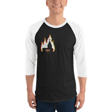 Load image into Gallery viewer, Unisex 3/4 Sleeve Raglan Shirt Unisex 3/4 Sleeve Raglan Shirt Aighard Black/White XS 1 4099679 Unisex 3/4 Sleeve Raglan Shirt