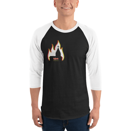 Church Arson | Unisex 3/4 Raglan Shirt Aighard Merchandise Webshop bergen black metal