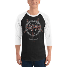 Load image into Gallery viewer, Unisex 3/4 Sleeve Raglan Shirt Unisex 3/4 Sleeve Raglan Shirt Aighard Black/White XS 1 7185441 Unisex 3/4 Sleeve Raglan Shirt