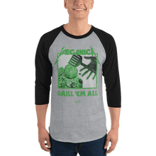 Load image into Gallery viewer, Unisex 3/4 Sleeve Raglan Shirt Unisex 3/4 Sleeve Raglan Shirt Aighard Heather Grey/Black XS 10 5994714 Unisex 3/4 Sleeve Raglan Shirt